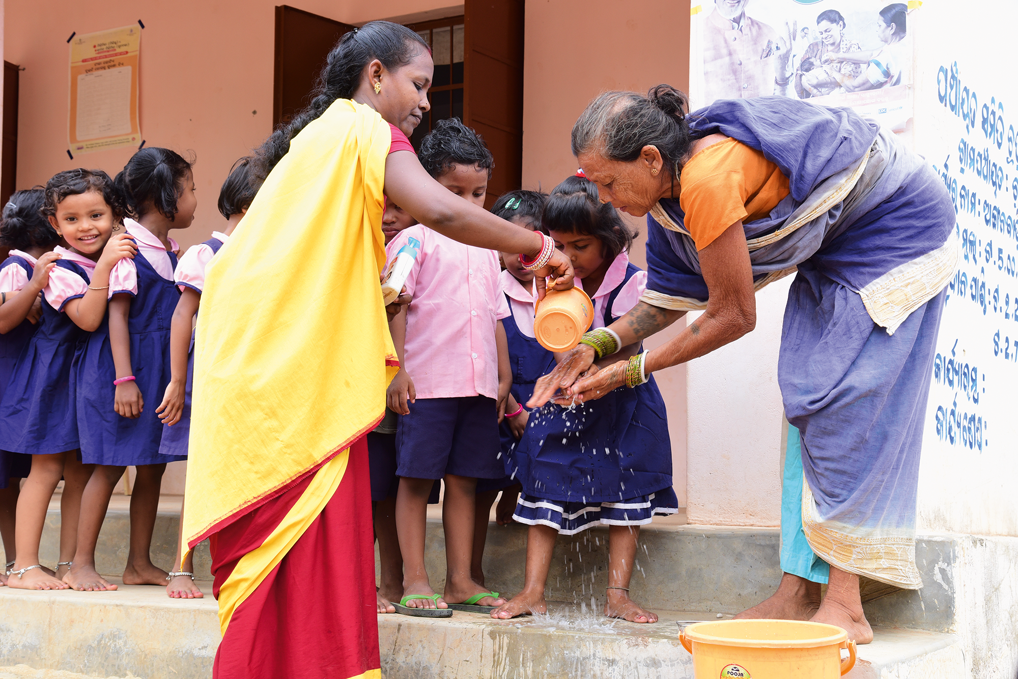 Ensuring regular hand washing as part of anganwadi teacher training and field monitoring