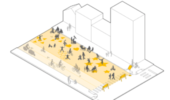 Open/Play Streets with barriers at entry points provide safe space for physical activity, play and distant socialising
