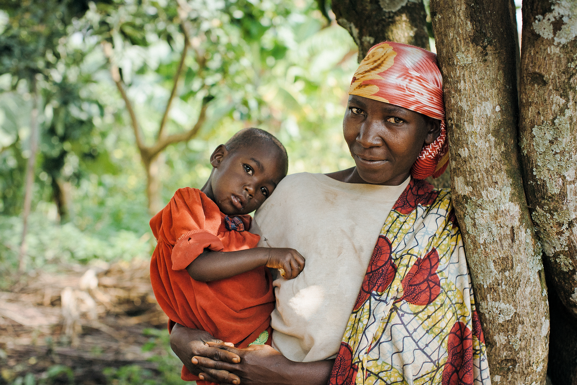 Ugandan mother with her child