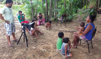 Sandriele Silva (Tukano) records stories for children