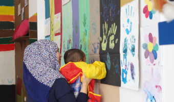 Children can leave their own imprint in Refugee Trauma Initiative's Baytna spaces